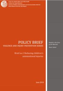 Policy brief #1